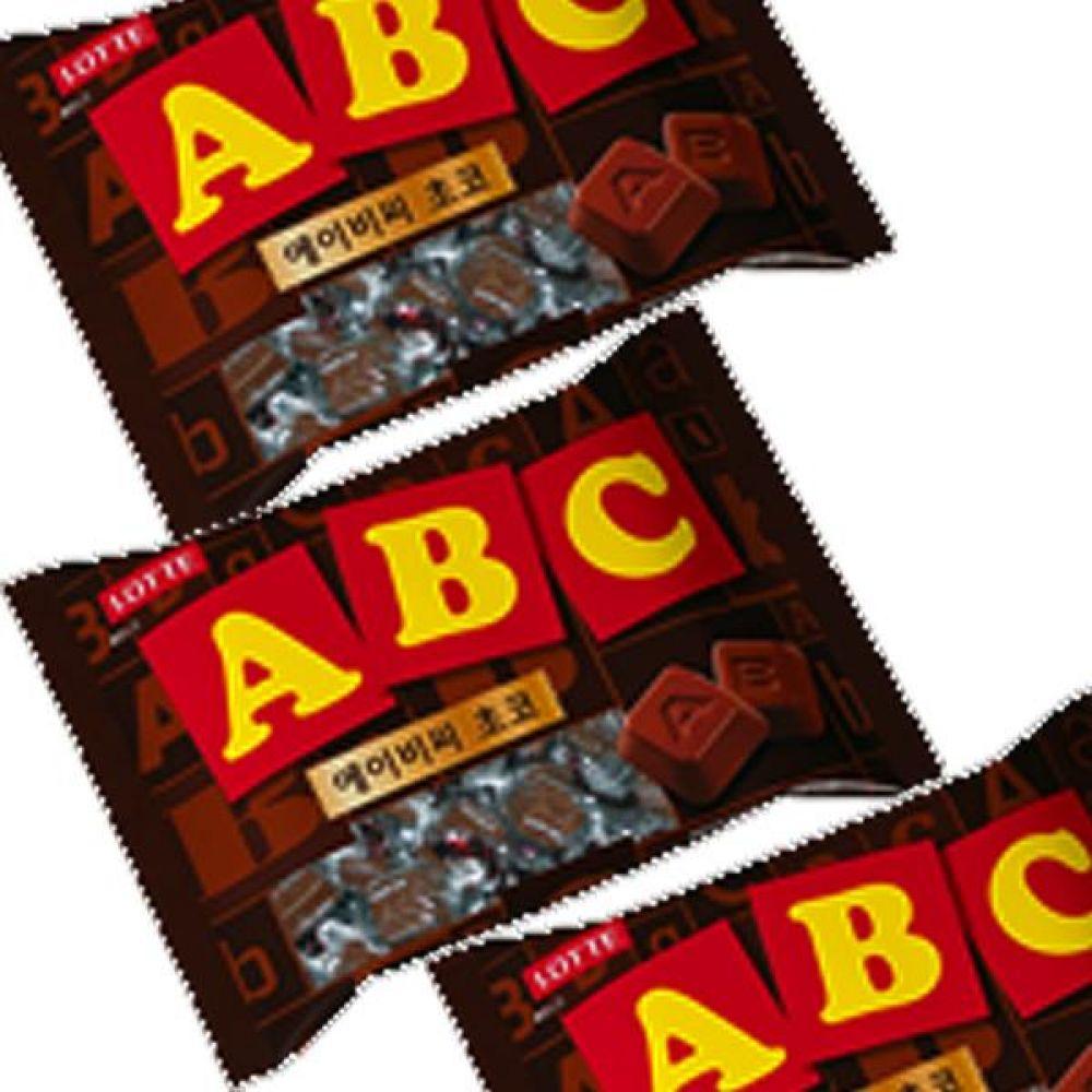 롯데)ABC 초코 초콜릿 200g x 4개 영문이 새겨진 초코릿 한입에 쏙 초코렛 달콤 선물 발렌타인 화이트데이