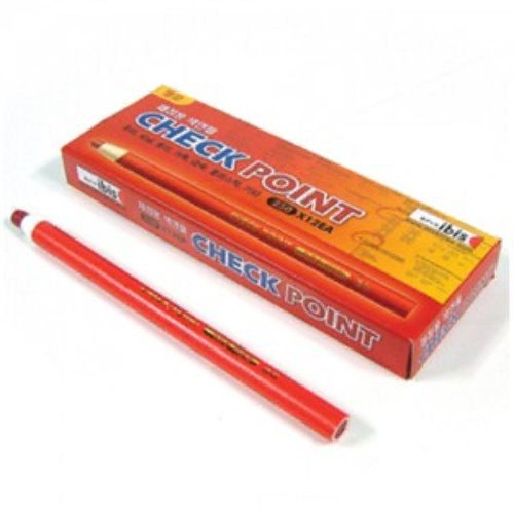 아이비스 400 채점용 색연필 빨간색연필 문구 만점 1개 학생 문구 사무용 선생님 부드러운