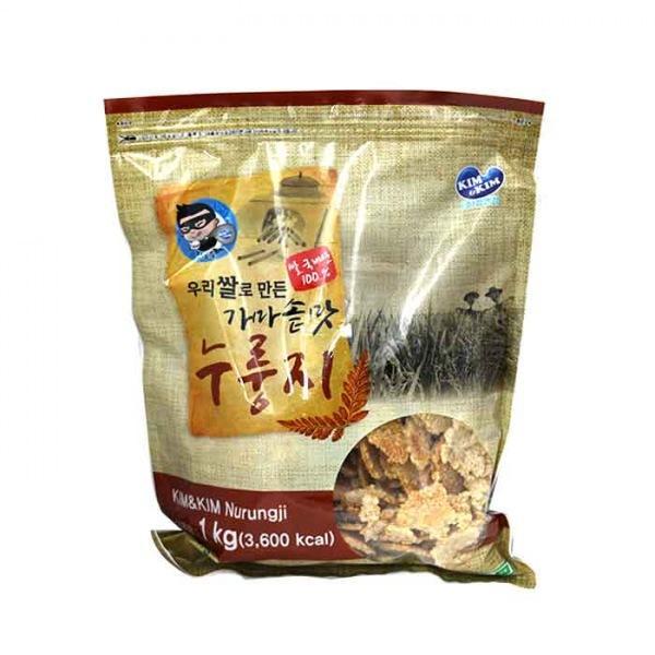 몽동닷컴 김앤김 우리쌀로 만든 가마솥맛 누룽지 1kg 누룽지 누룽지스낵 가마솥누룽지 간식 웰빙