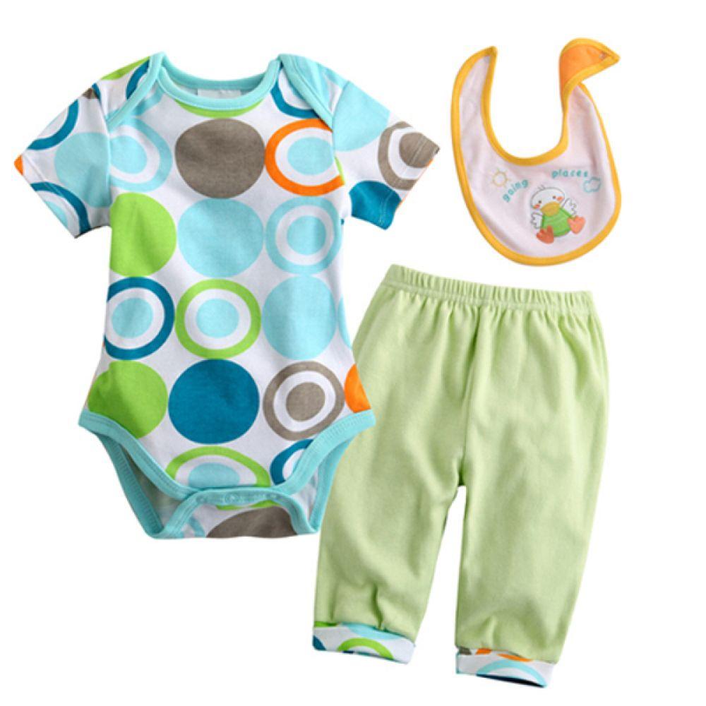 날아라 오리야 바디수트 3종 세트 (0-9개월)300070 아기외출복 백일아기옷 아기룸퍼 6개월아기옷 아기룸퍼 돌아기옷 신생아외출복 베이비롬퍼
