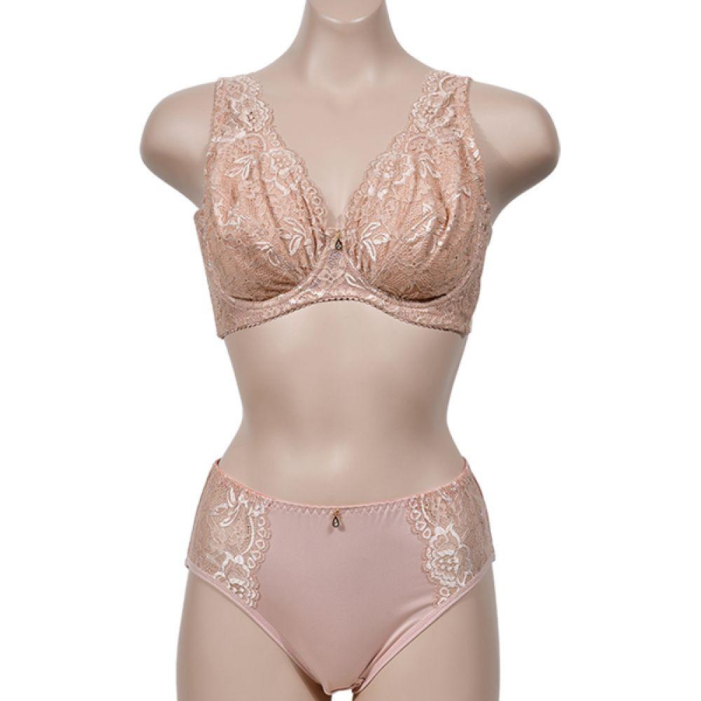 (피오나)(ST7283D컵)우아한 자수 레이스 빅사이즈 풀컵 노몰드 D컵 브라팬티세트 여자속옷 여성속옷 브라팬티세트 노몰드 D컵