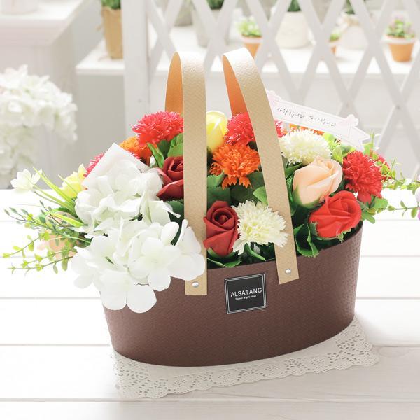 카네이션 타원 바스켓 카네이션 비누꽃 어버이날 스승의날 비누카네이션 코사지 시들지않는꽃 부모님선물 어버이날선물 스승의날선물 브로지 꽃배달 꽃바구니