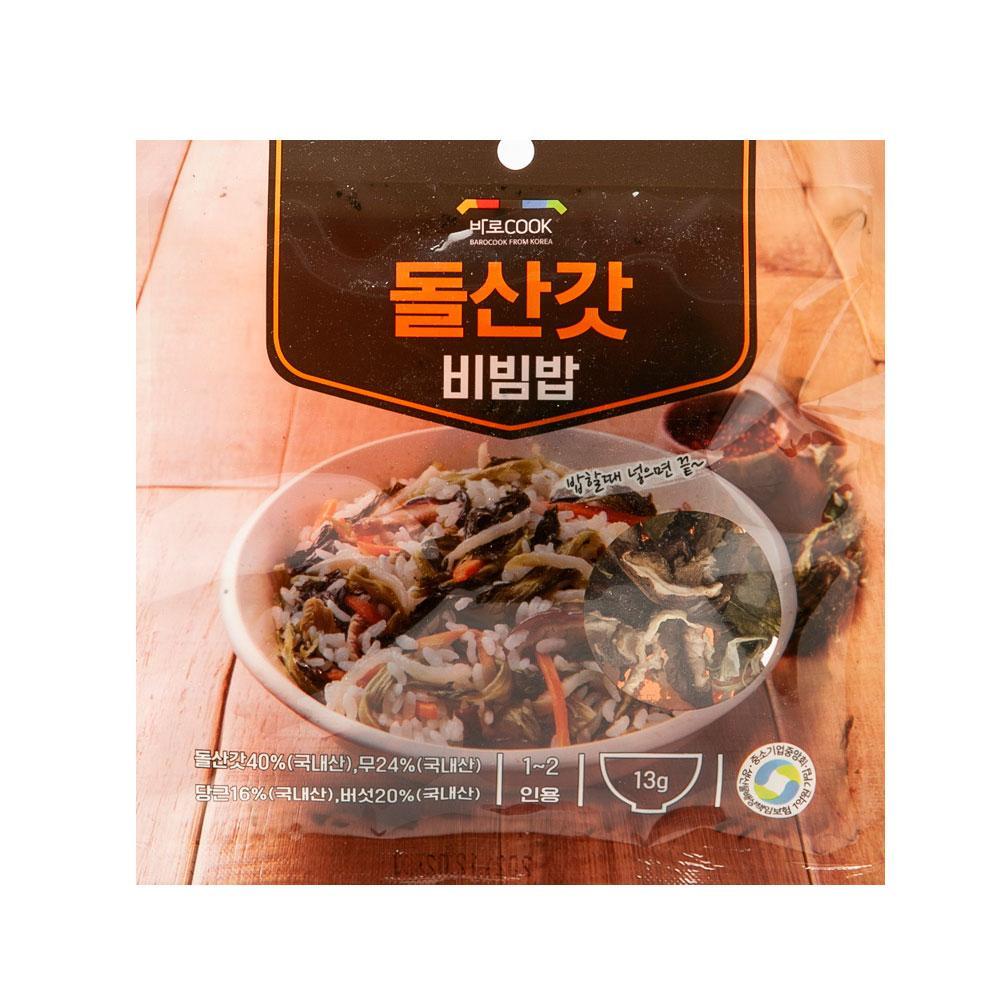 돌산갓 비빔밥 13g(1-2인용) 나물 건강 식품 밥 야채