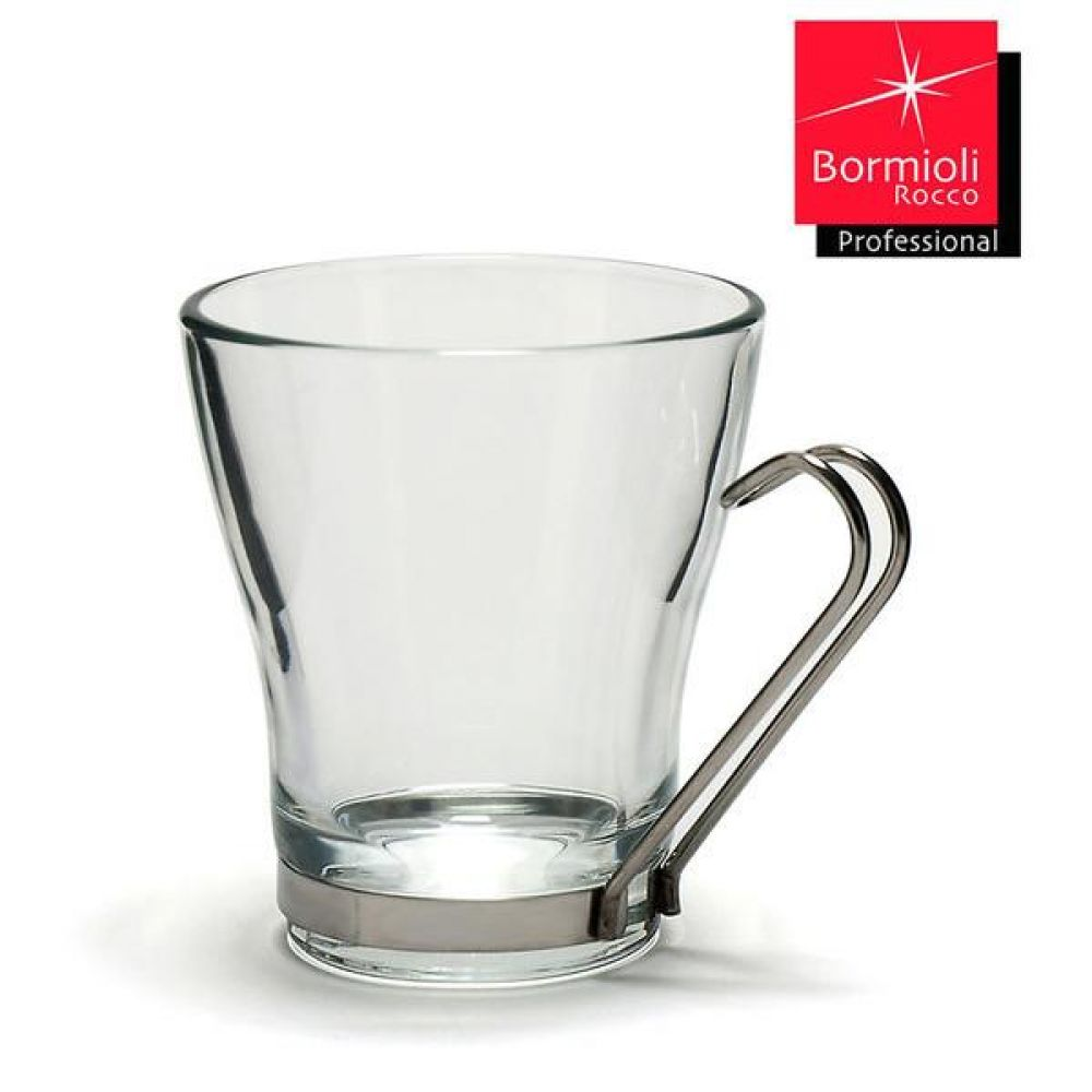 보르미올리 오슬로 카프치노잔 1P(320ml멀티핸들잔) 커피잔 유리잔 유리컵 커피컵 카푸치노잔
