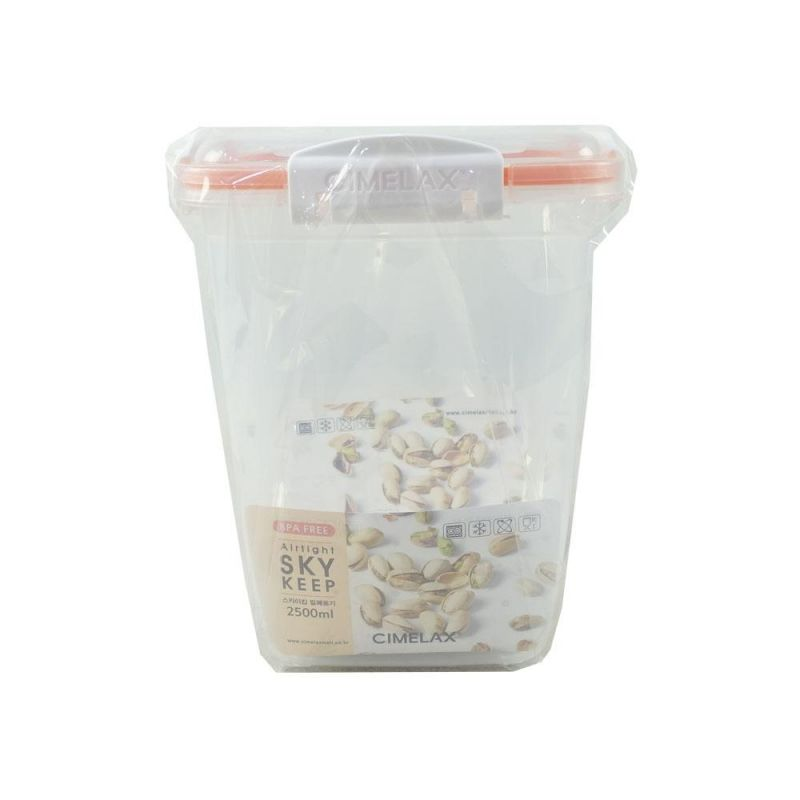 씨밀렉스 스카이킵 정사각 대 2500ml 플라스틱밀폐용기 밀폐용기 주방밀폐용기 주방용기 가정용용기 주방용용기 반찬통 주방보관용기 음식보관용기 밀폐보관용기