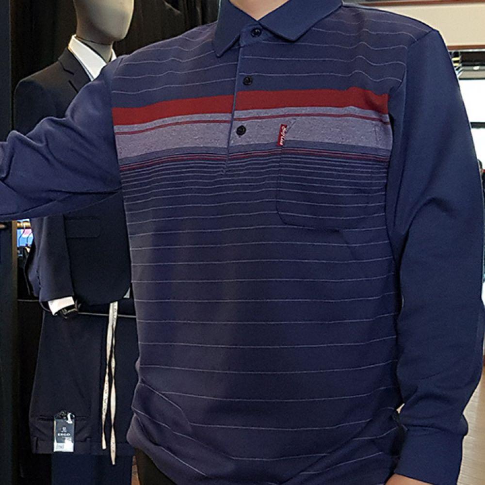 y 해리스 HARRIS 남성 카라셔츠 블루 GR-TS6166 니트 컬러니트 라운드니트 베이직니트 젠틀안트니트 젠틀안트 가을니트 신상니트 남자니트 프리사이즈니트 스트라이프니트 knit