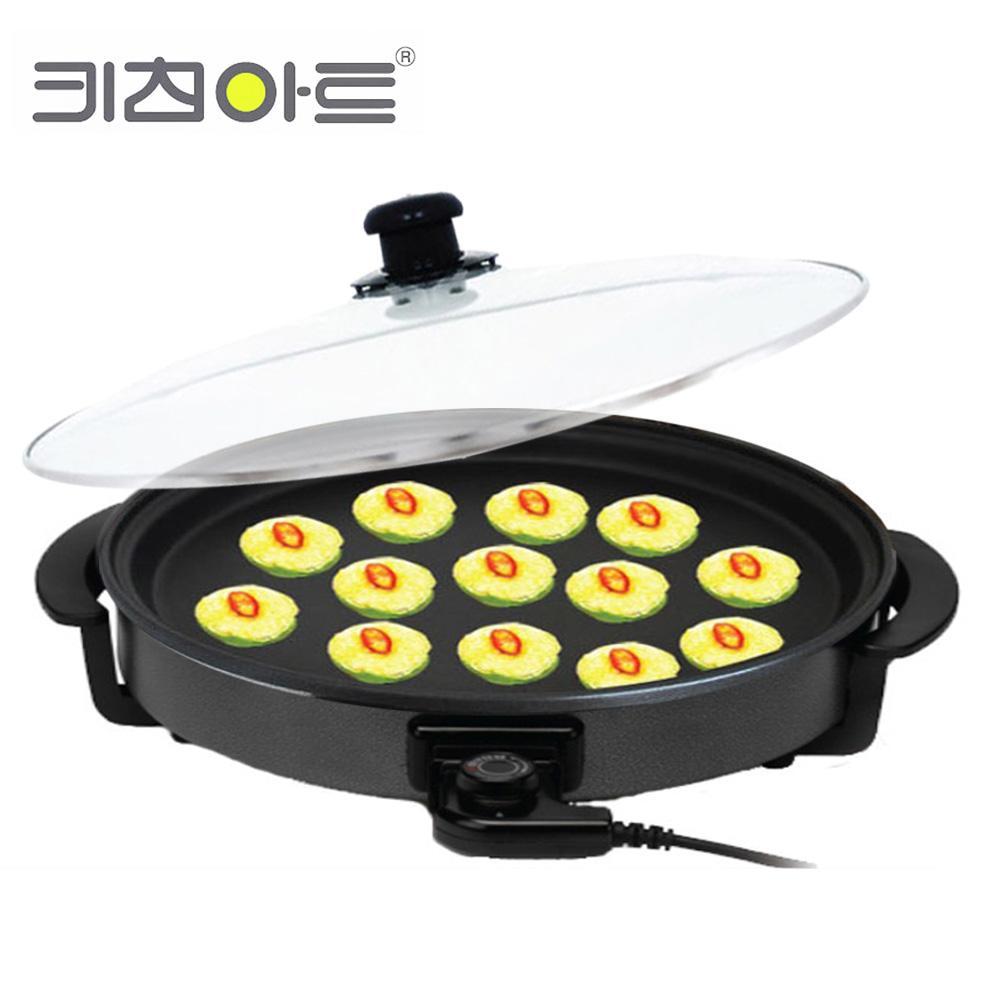 키친아트1401 지짐판 피자팬 전기후라이팬 전기전판 전기피자팬 후라이팬 프라이팬 지짐판