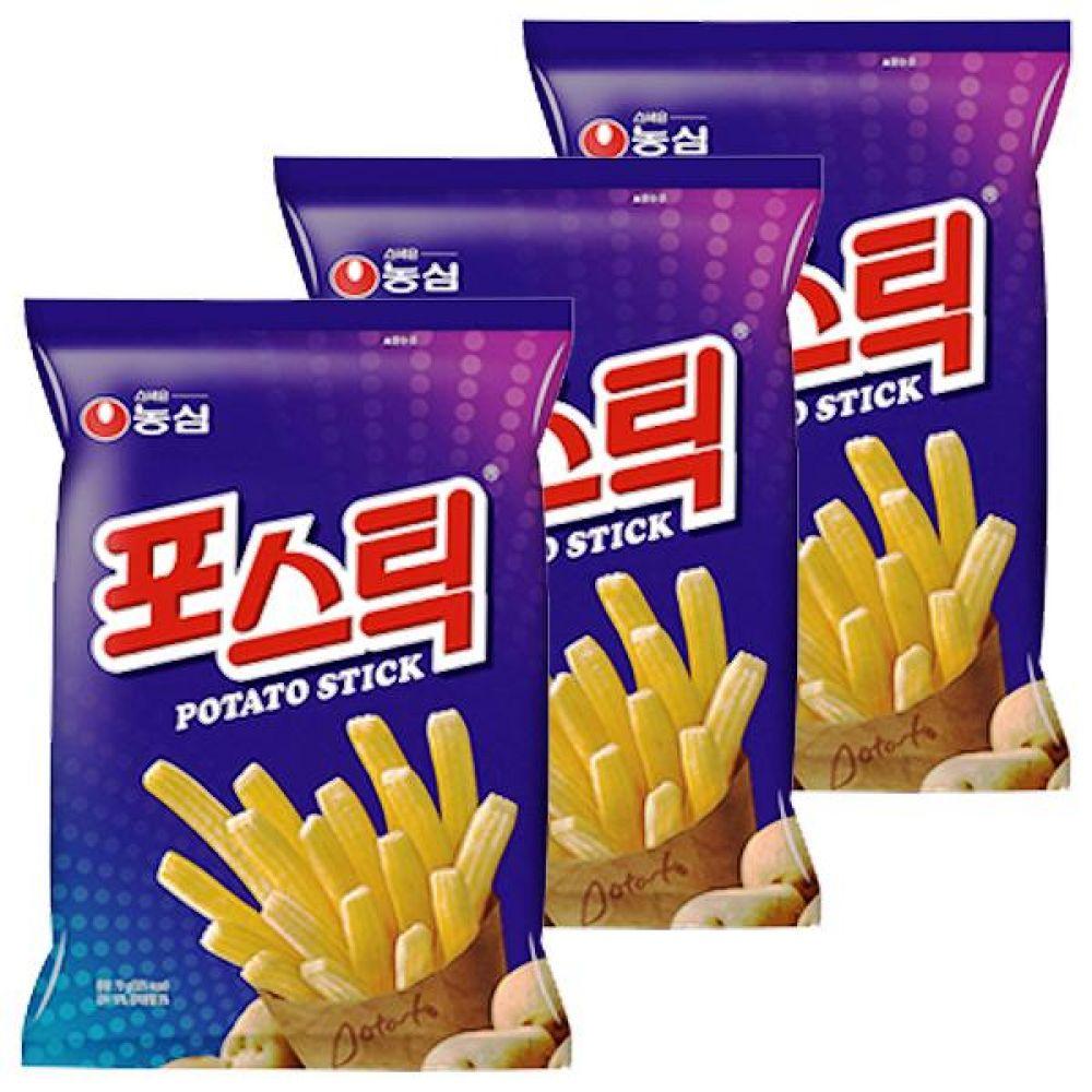 농심) 포스틱 84g x 10개 고소함 짭잘 신선한감자튀김 과자 스낵 간식 대량도매 도매