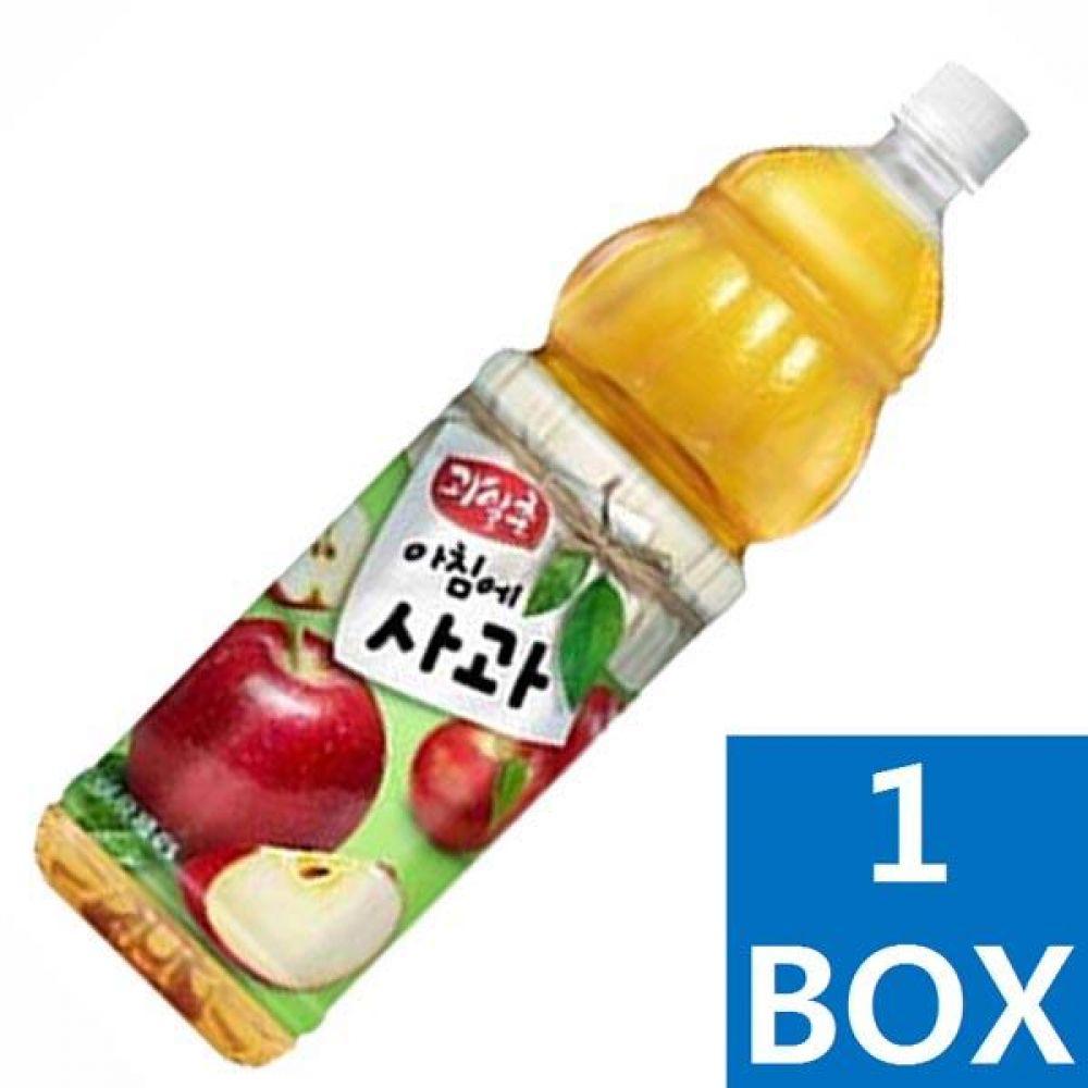 해태음료)아침에사과 1.5L 1박스(12병) 대량 도매 대량판매 세일 판매