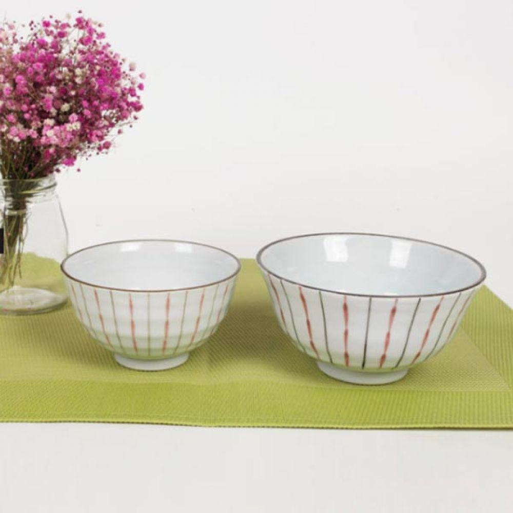 공대시리즈 오키드 레드 대접 4P 주방용품 예쁜그릇 대접 예쁜그릇 주방용품 식기 국그릇