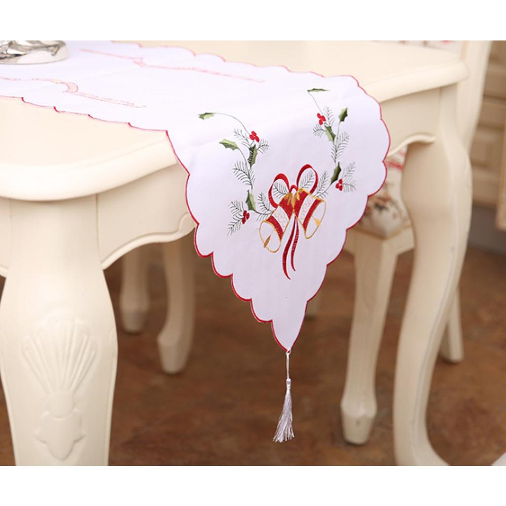 크리스마스 테이블 러너 화이트 식탁러너 주방러너 주방러너 식탁러너 식탁보 레이스러너 성탄절소품