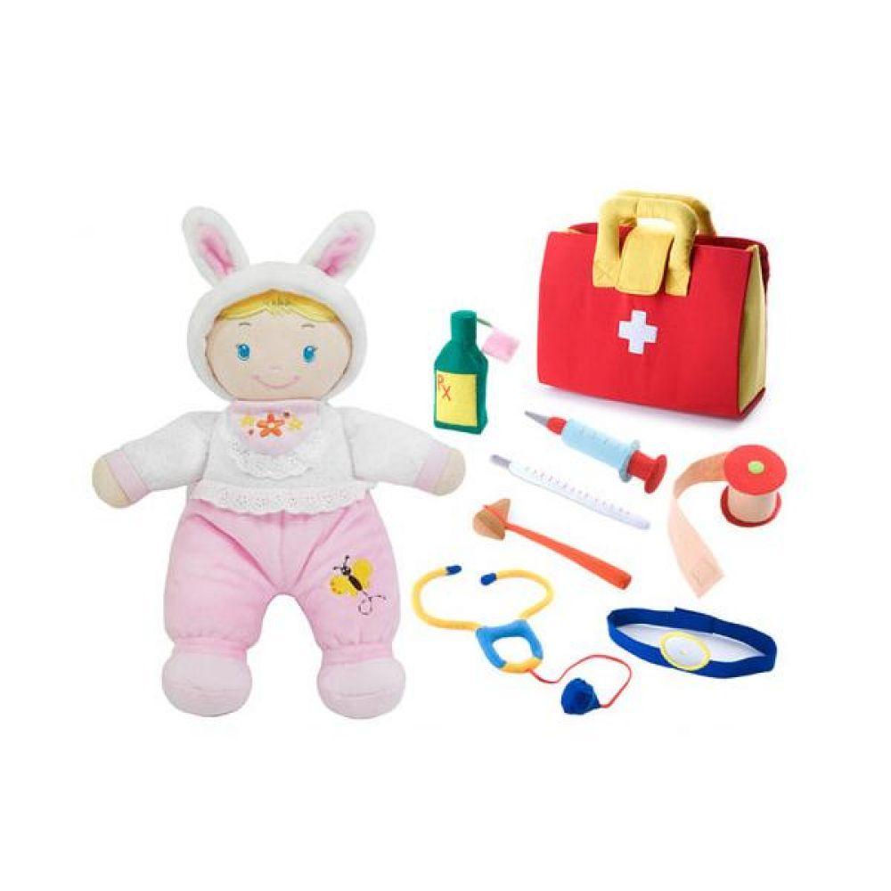 바스락 인형과 함께 병원놀이 완구 문구 장난감 어린이 캐릭터 학습 교구 교보재 인형 선물