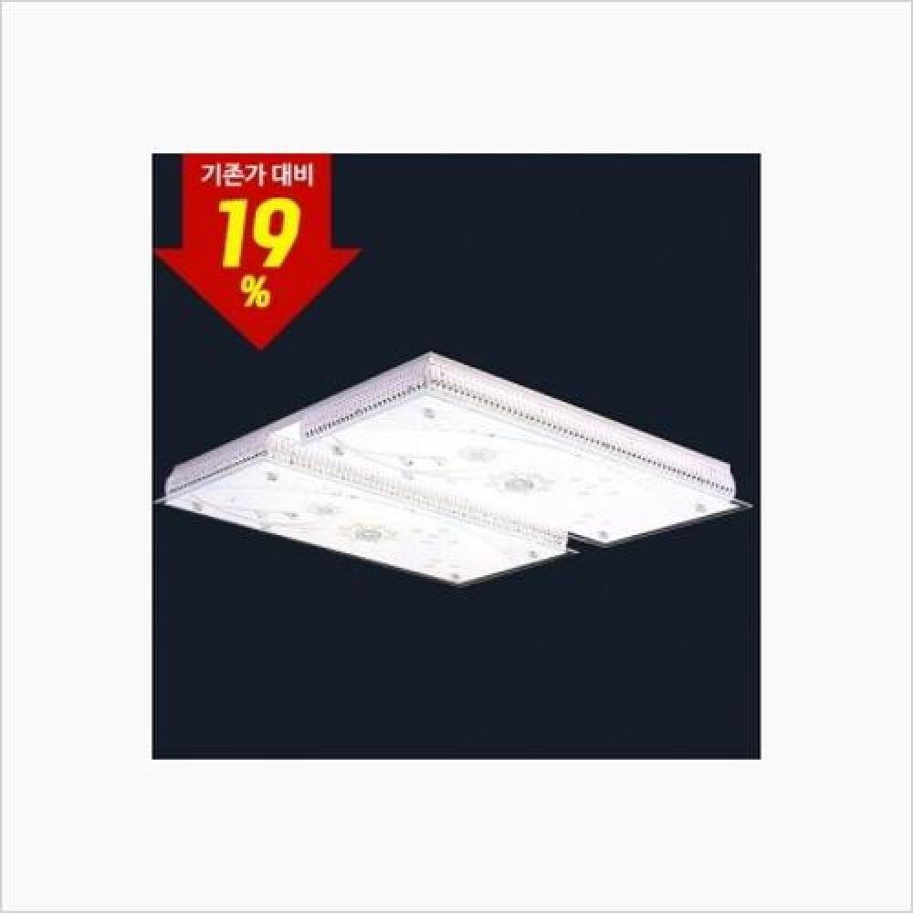 인테리어 홈조명 스타눈꽃 4등 LED거실등 100W 인테리어조명 무드등 백열등 방등 거실등 침실등 주방등 욕실등 LED등 평면등