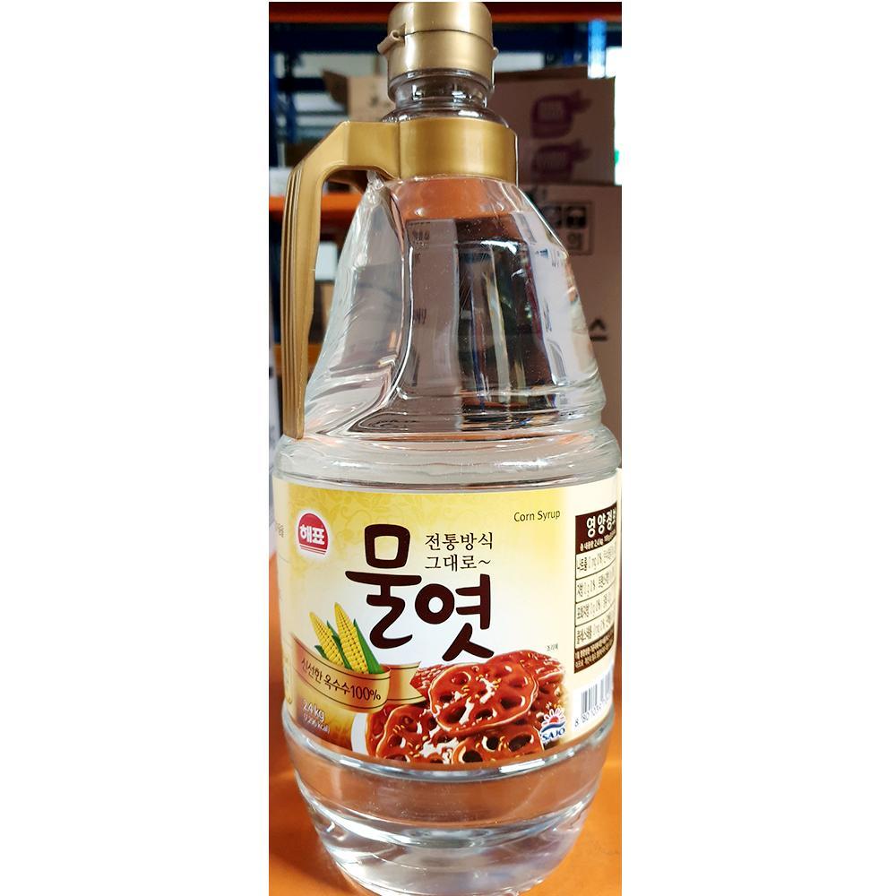 업소용 물엿 해표 2.4kg x6개 조청 단맛 윤기 식자재 해표 물엿 조청 황물엿 맥아물엿