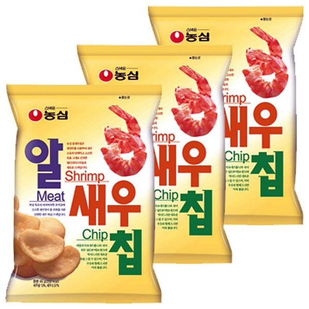 농심) 알새우칩 68gx10개 새우 고유 담백 고소한 맛 과자 스낵 간식 대량도매 도매
