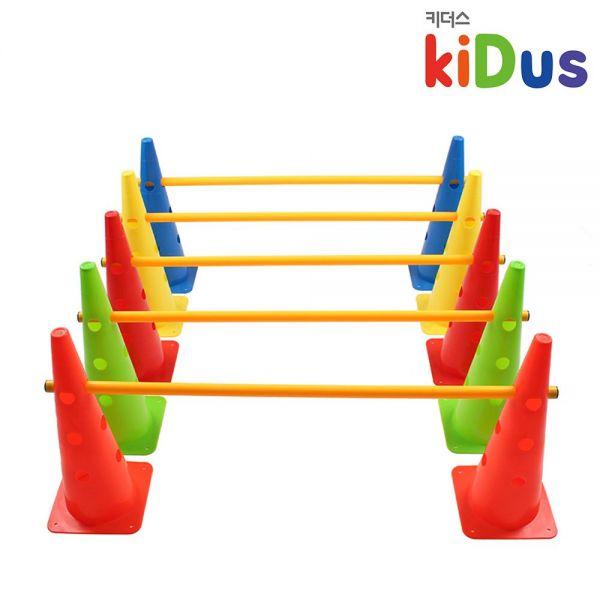 [키더스] 허들콘 시스템 48cm 풀세트 유아체육 축구 접시콘 칼라콘 안전용품 트레이닝