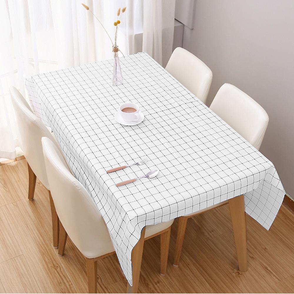 격자무늬 화이트 137x137cm 식탁보 테이블커버 방수테이블보 테이블보 테이블커버 식탁테이블매트 테이블매트