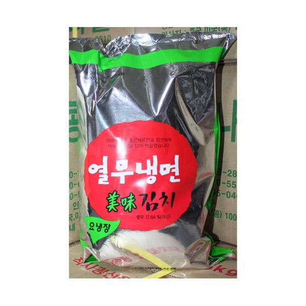 (냉장)미미 열무냉면김치2.5kg 열무김치 냉면김치 김치 식품 식자재