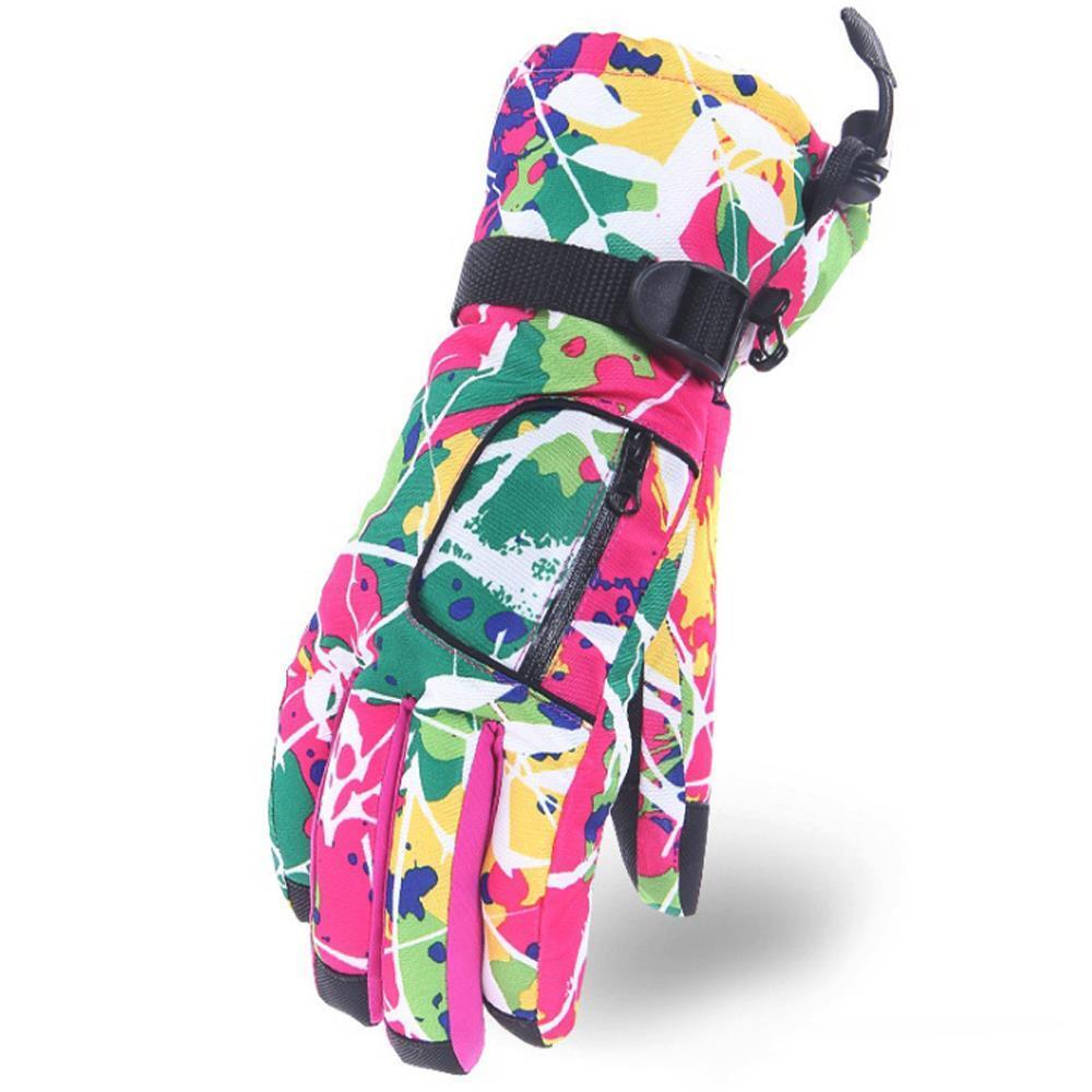핑크 히든포켓 스키장갑 야외용장갑 겨울용방한장갑 스키장갑 겨울용방한장갑 패션스포츠장갑 겨울장갑 스포츠장갑