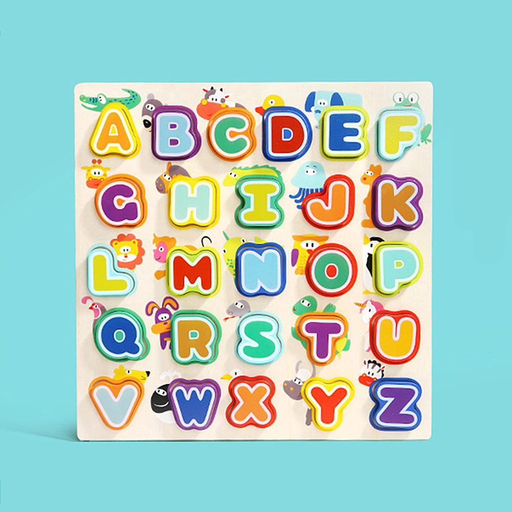 도구 3살 아이 장난감 애니멀 알파벳 퍼즐 유아 놀이 퍼즐 블록 블럭 장난감 유아블럭