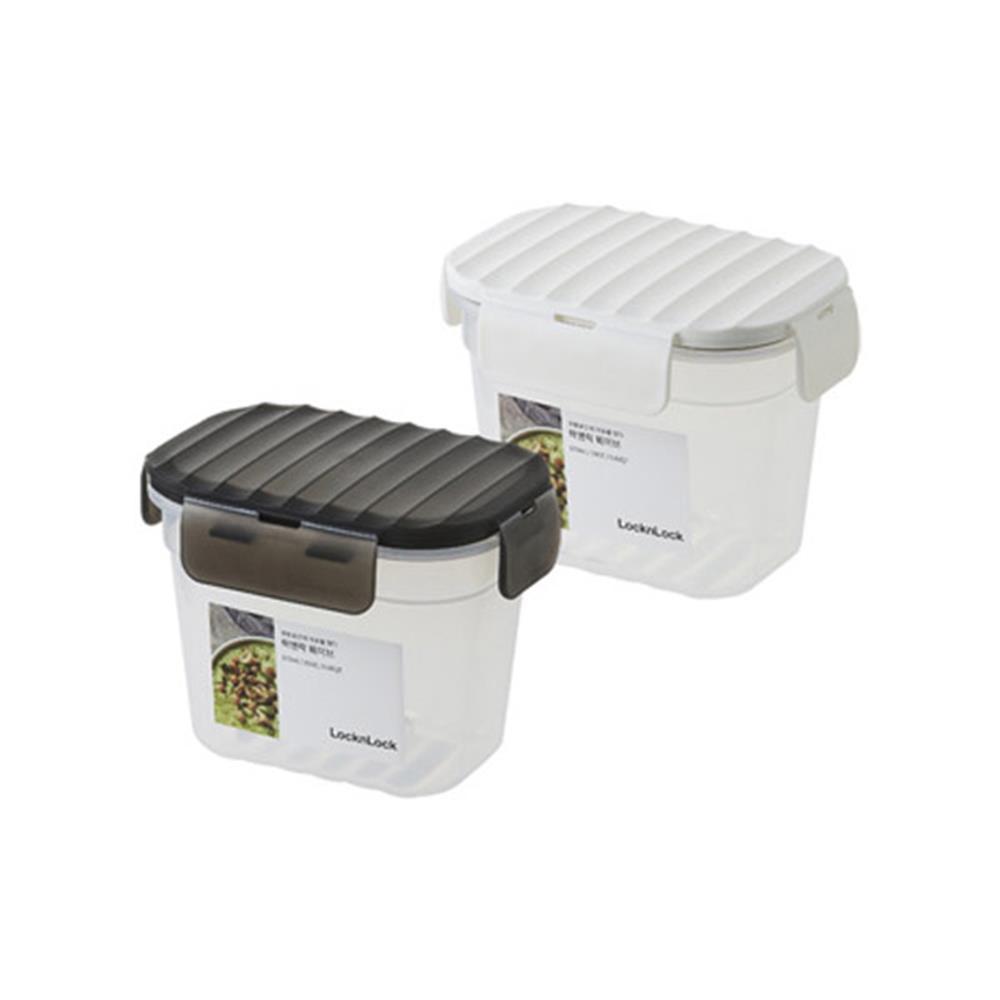 밀폐용기 570ml 스노우화이트 웨이브 반찬용기 반찬통 보관용품 찬통 밀폐양념통 반찬용기 주방용품