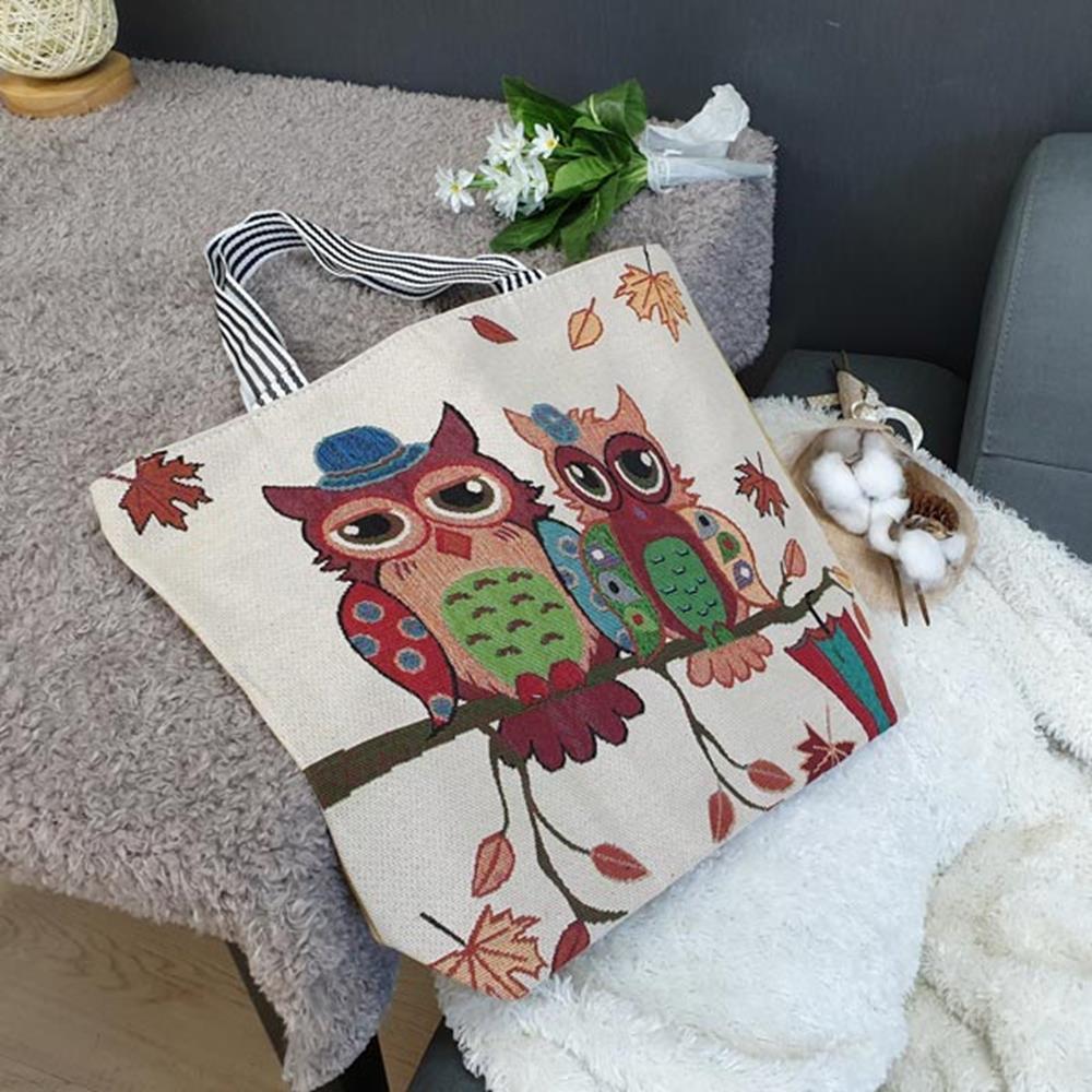 에코백 커플부엉이 캔버스백 크로스백 보조가방 숄더백 에코백 크로스백 캔버스백 보조가방