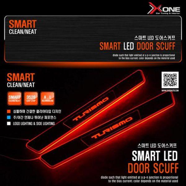 스마트 LED도어스커프 코란도 투리스모 자동차용품 LED자동차용품 자동차인테리어 자동차실내용품 자동차도어스커프