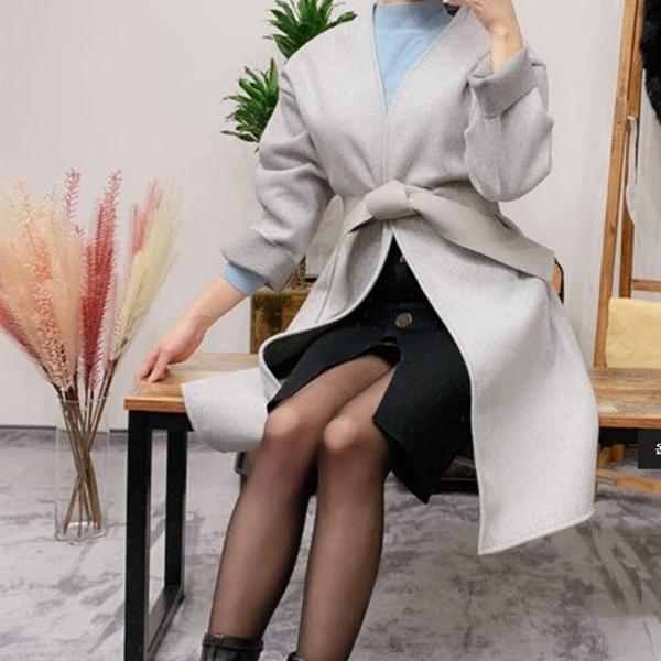 캐쥬얼 모던룩 레더 벨트 세트 코트 여성 아웃터 코트 퍼코트 겨울옷 여자겨울옷 롱패딩 하프코트 이쁜코트
