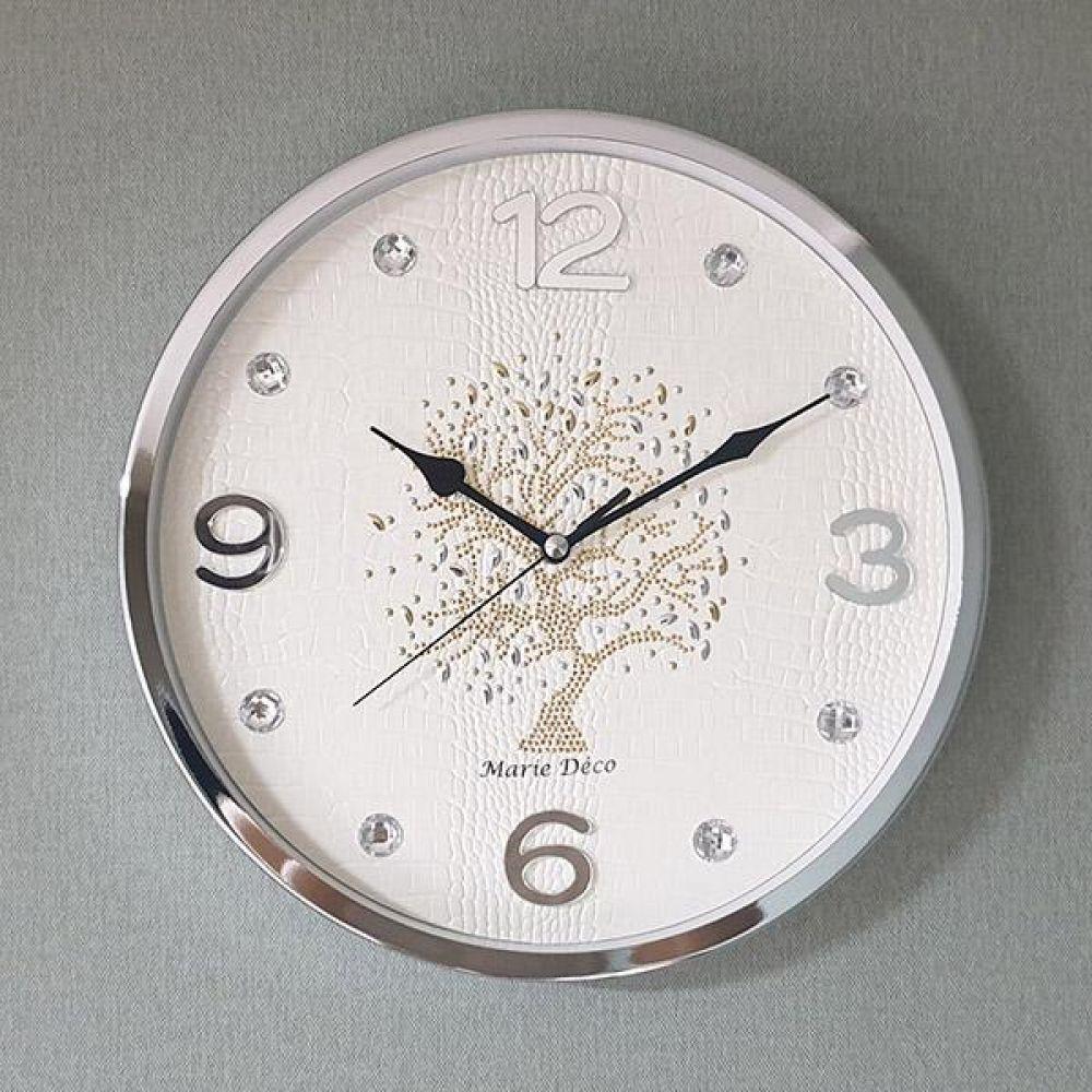 행운나무 무소음 벽시계 (아이보리) 벽시계 벽걸이시계 인테리어벽시계 예쁜벽시계 인테리어소품