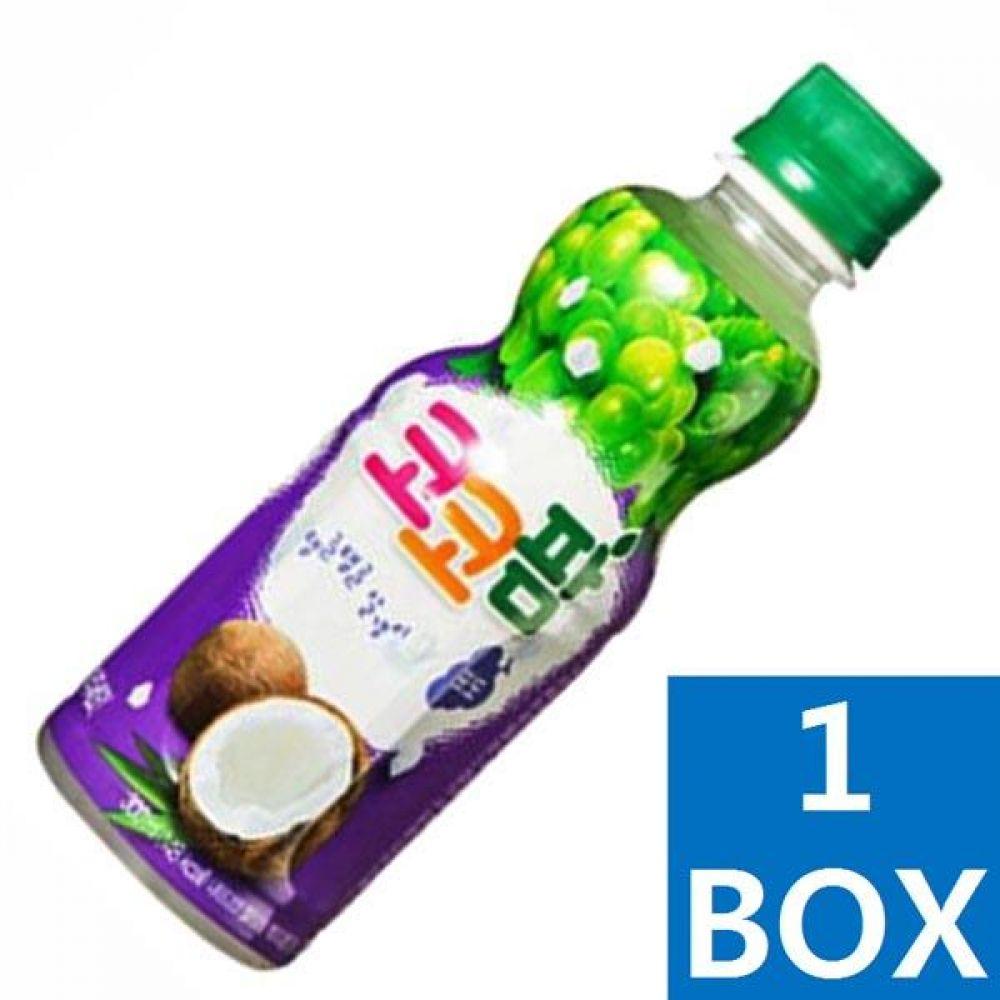 해태음료)코코팜 탱글탱글 알갱이포도 300ml 페트병 1박스(24개) 음료 여름 주스 차 과일 대량 도매 대량판매 세일 판매