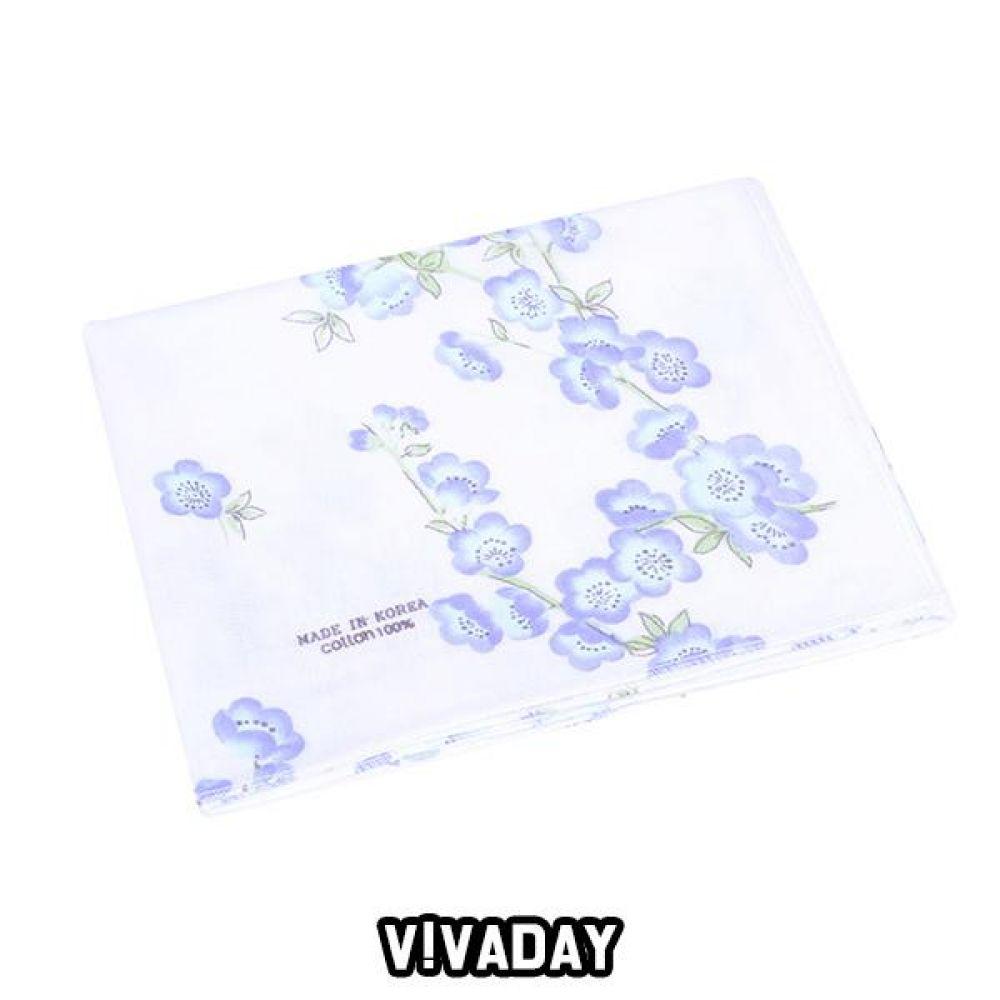 VIVADAY-SC83 가제나염수건 손수건 나염손수건 여성손수건 신사손수건 남성손수건 순면손수건 가제손수건 고급손수건