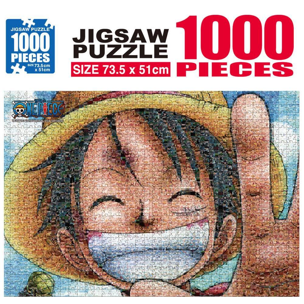 원피스 직소퍼즐 1000pcs 모자이크 현상수배_루피 직소퍼즐 캐릭터 퍼즐놀이 퍼즐 아동퍼즐