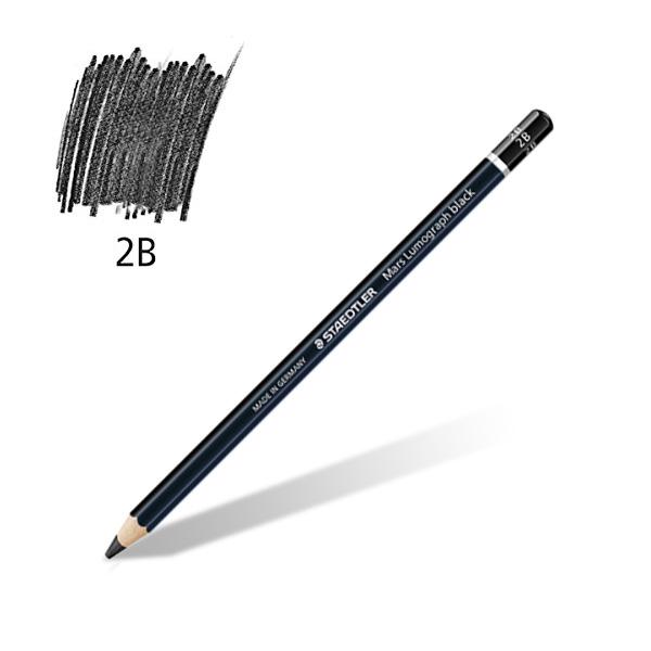 스테들러 마스 루모그라프 블랙연필 100 2B 제도연필