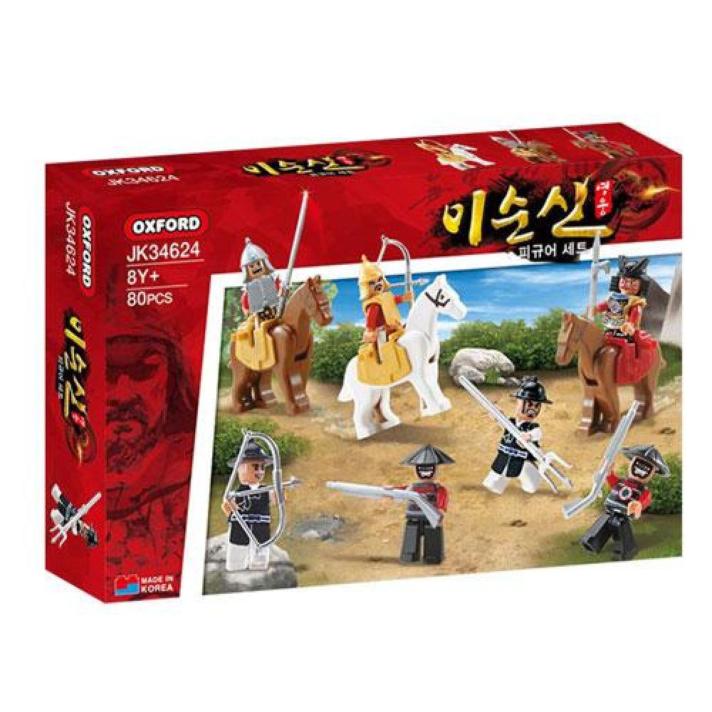 옥스포드 JK-34624 영웅 이순신 피규어세트 장난감 완구 토이 남아 여아 유아 선물 어린이집 유치원