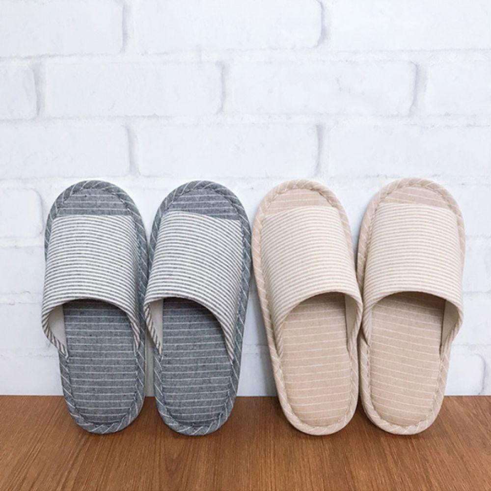스트라이프 거실화 실내화 거실화 욕실화 신발 털신