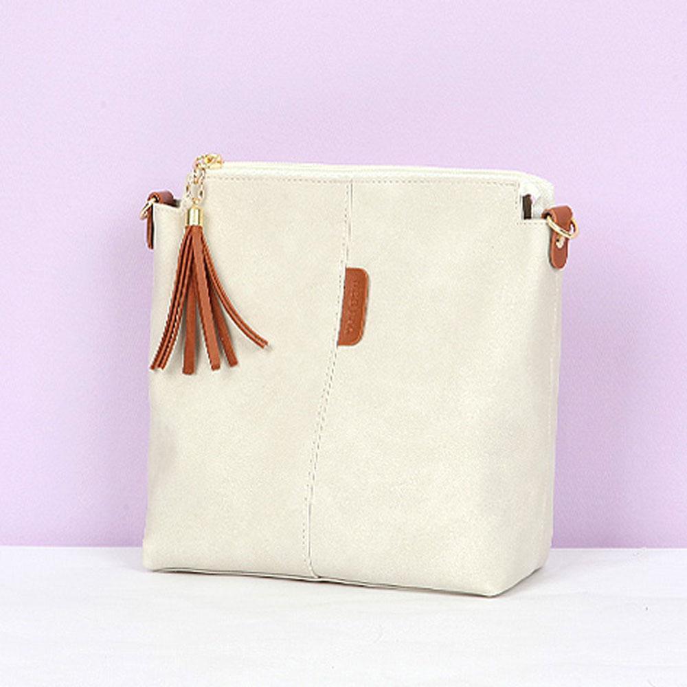 아이보리 여성 세련된 기본 스타일 크로스 여자 가방 여성숄더백 여자숄더백 이지백 캐주얼백 여성가방