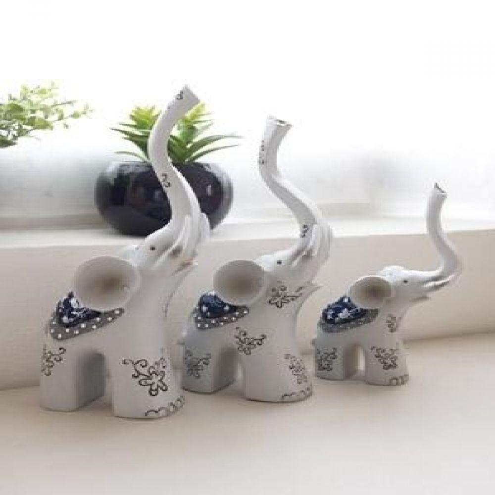 코끼리 3P 장식품 마블소품 인테리어소품 코끼리장식품 코끼리소품 인테리어장식품