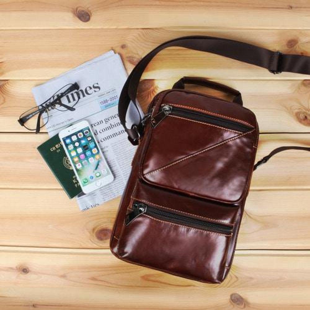 UL_IUU005 클랙식한 오일지가죽 크로스백 데일리가방 캐주얼크로스백 디자인크로스백 가죽가방 심플한가방