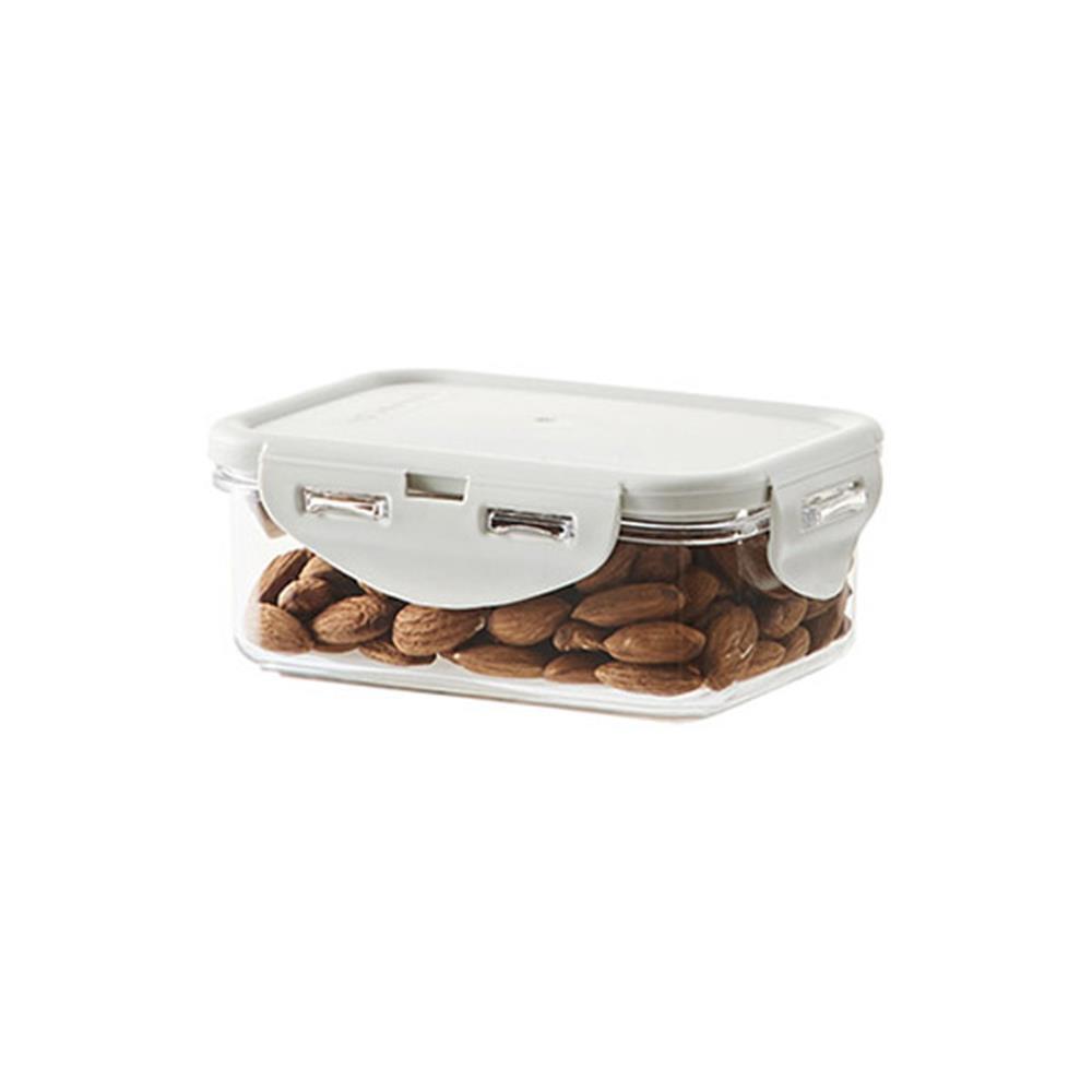 직사각밀폐용기 350ml 라이트그레이 스테커블 양념통 밀폐 반찬통 플라스틱통 보관용품 사각용기