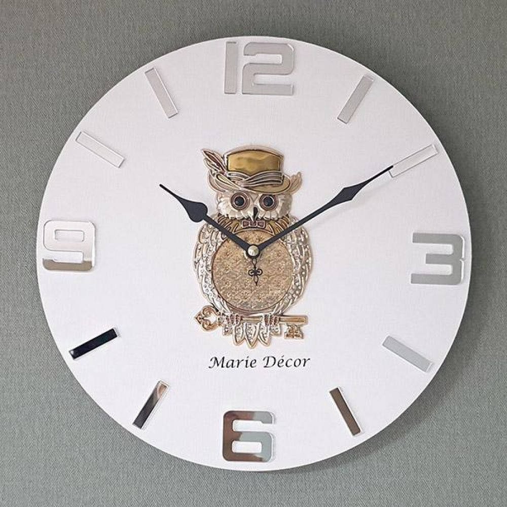 황금열쇠 부엉이 무소음 오픈 벽시계 벽시계 벽걸이시계 인테리어벽시계 예쁜벽시계 인테리어소품