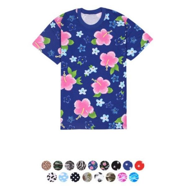 패턴 라운드 티셔츠 30수 라운드 반팔 티셔츠 반팔티 패턴