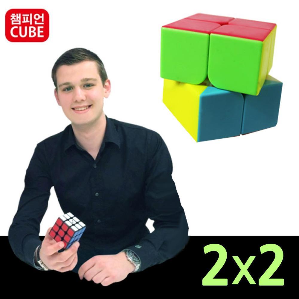 챔피언 코코 입문용 2x2 큐브 퍼즐 큐브 브릭 퍼즐 아이큐 두뇌게임