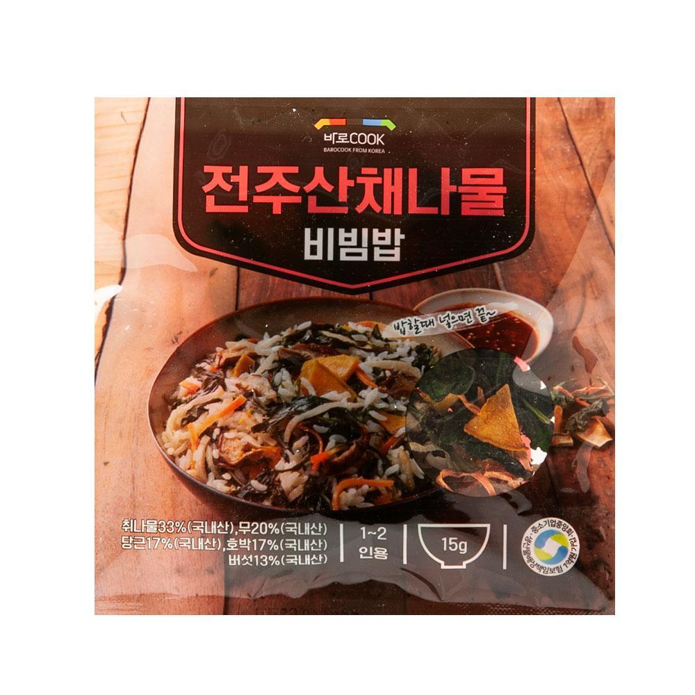 전주산채나물 비빔밥 15g(1-2인용) 나물 건강 식품 밥 야채