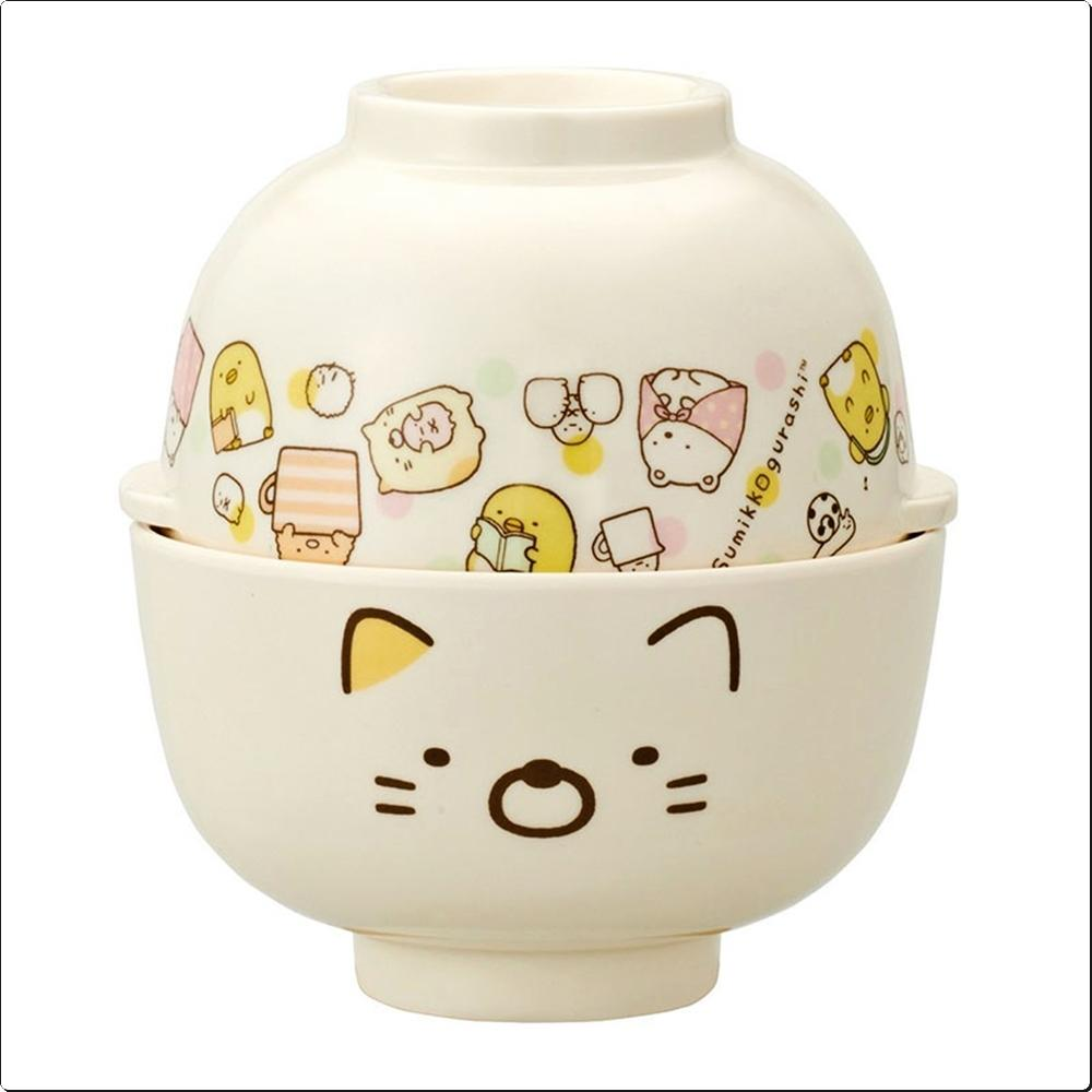 스밋코구라시16 공기 국그릇 세트(고양이) (316180) 캐릭터 캐릭터상품 생활잡화 잡화 유아용품
