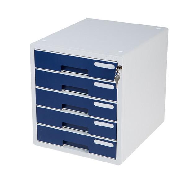 5단칼라서류함(네이비/시스맥스) 사무용품 다용도함 사무실 사물함 정리함 다용도 5단 칼라서류함