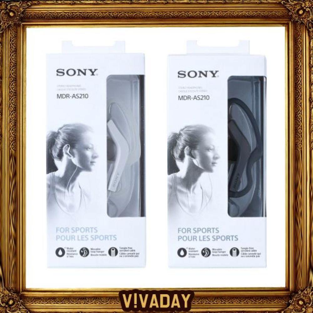 BN SONY 소니 MDR-AS210 이어폰 헤드폰 헤드폰 헤드셋 라디오 이어폰 이어셋 통화 오디오 캠핑 등산 낚시