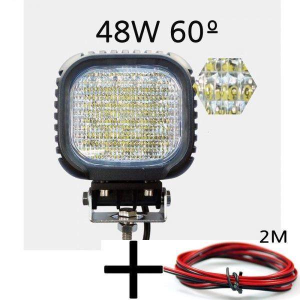 LED 앰프로빔 60도 써치라이트 48W 해루질 작업등 12V-24V겸용 선2m포함 led작업등 led라이트 낚시집어등 차량용써치라이트 해루질써치