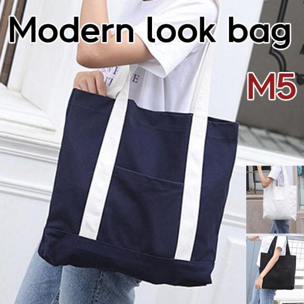 모던룩 에코 숄더백 M5  가방 에코백 보냉백 토드백 장바구니 시장가방