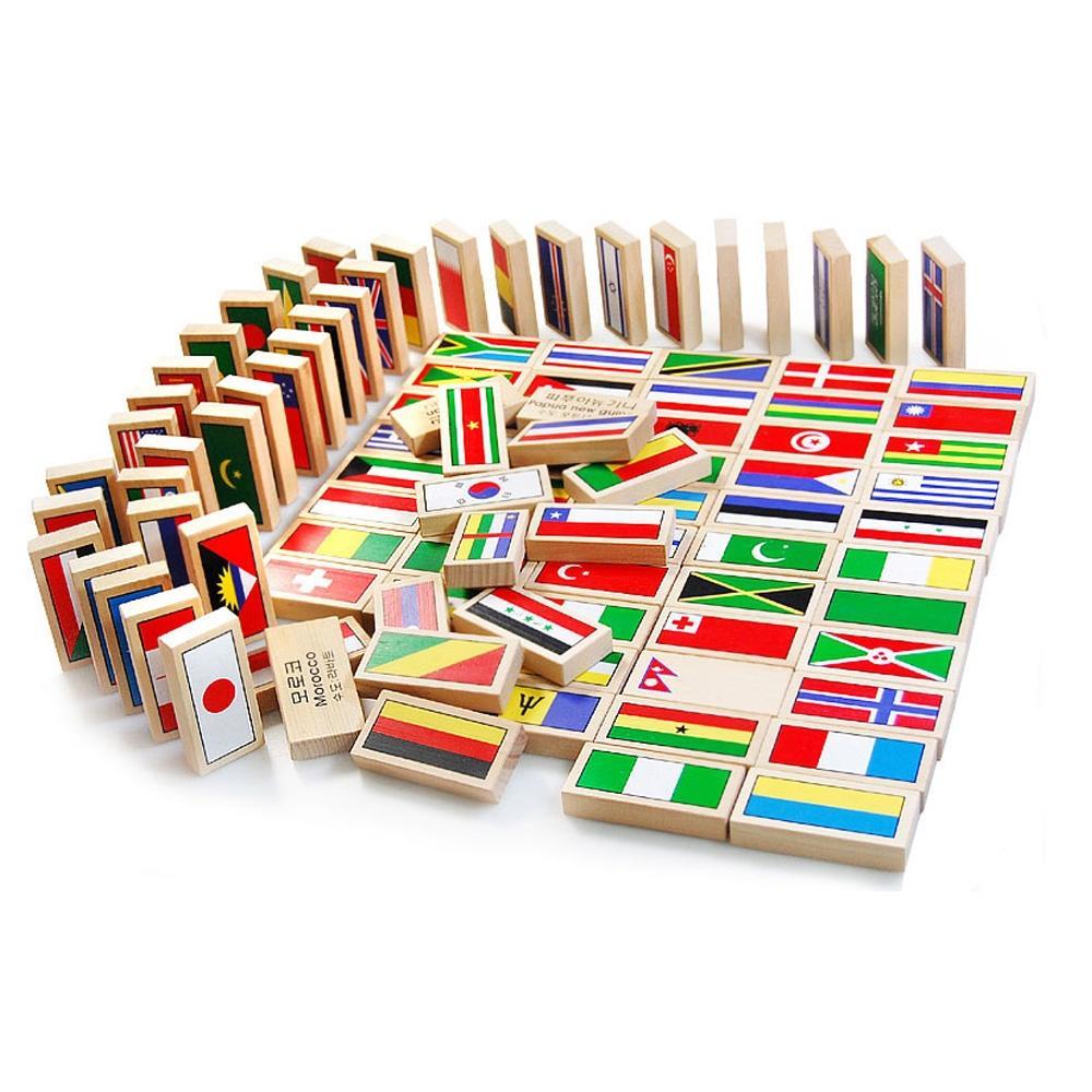 학습 4살 아이 장난감 만국기 도미노 100개국 유아 만국기 만국기도미노 도미노 퍼즐 블록