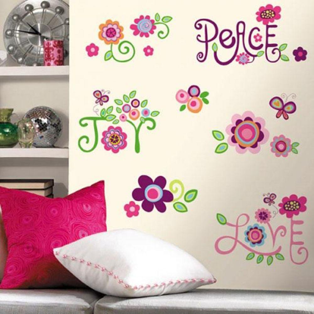룸메이츠 데코시트 평화와 사랑의 정원 데코 스티커 인테리어스티커 방꾸미기 벽스티커 포인트스티커 그래픽스티커 감성스티커 벽장식스티커 입체스티커 포인트시트지 데코시트지